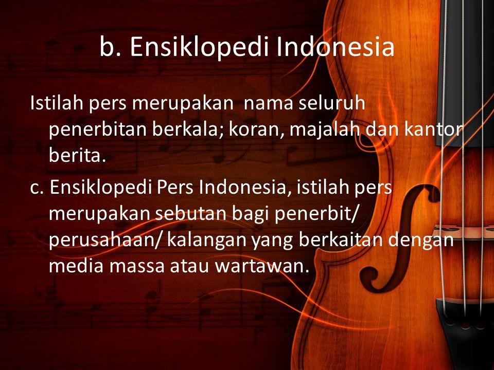 b. Ensiklopedi Indonesia