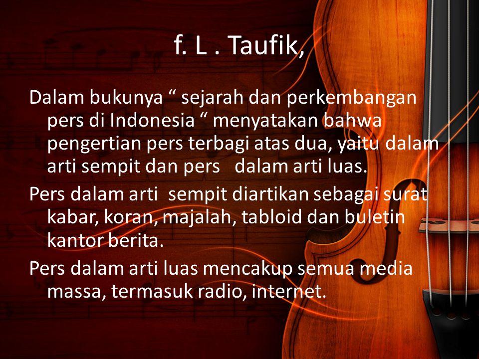 f. L . Taufik,