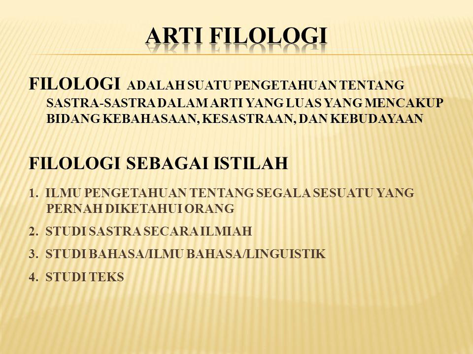 ARTI FILOLOGI