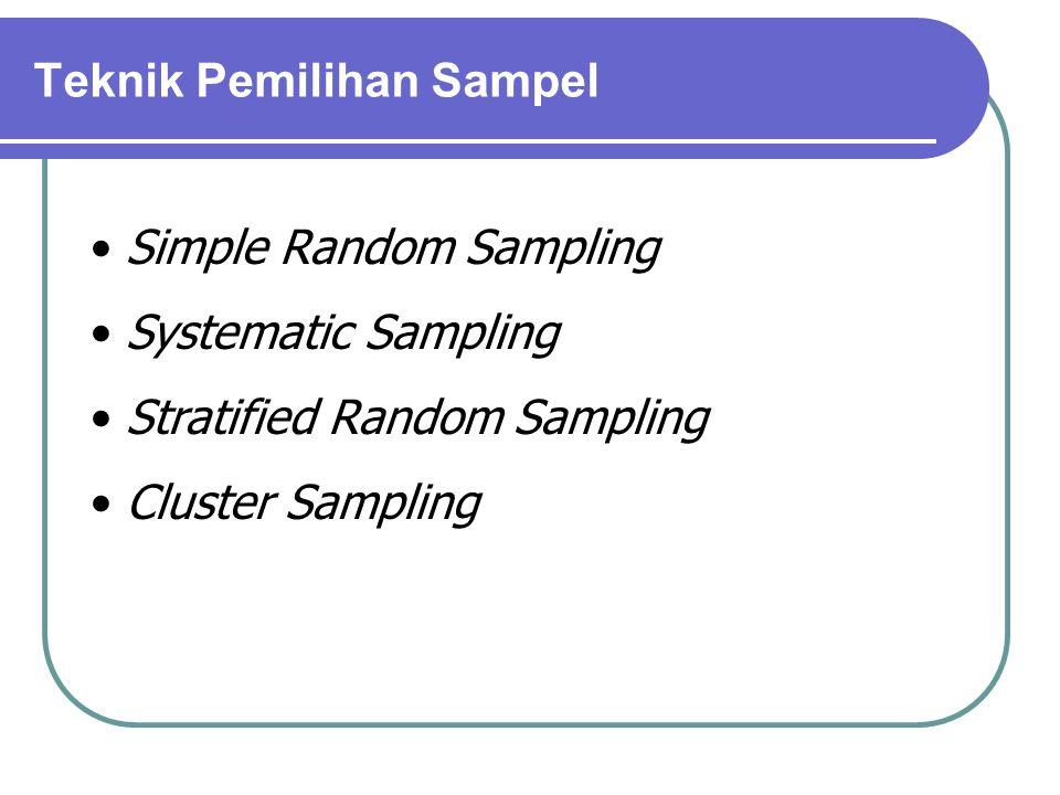 Teknik Pemilihan Sampel