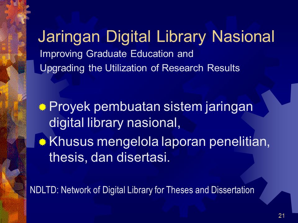 Jaringan Digital Library Nasional
