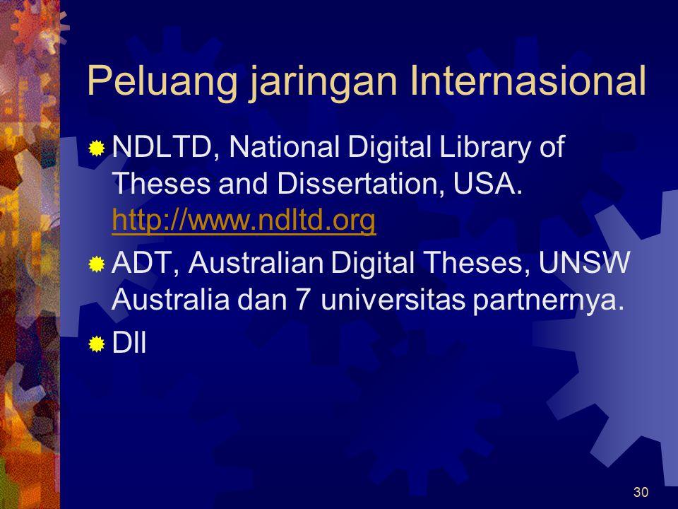 Peluang jaringan Internasional