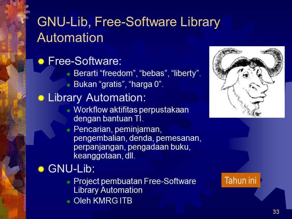 GNU-Lib, Free-Software Library Automation