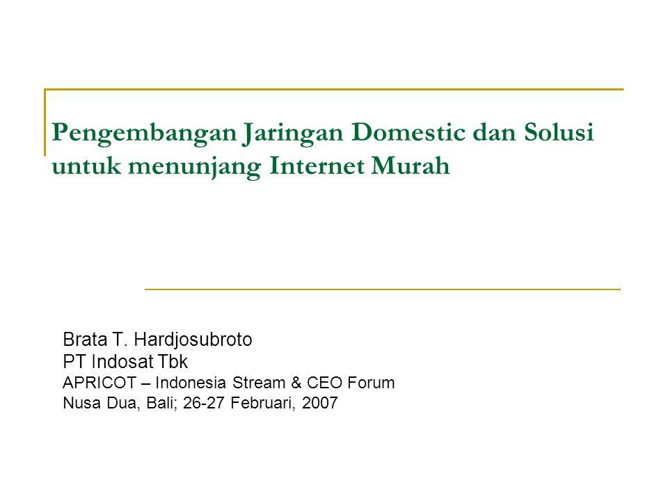 Pengembangan Jaringan Domestic dan Solusi untuk menunjang Internet Murah