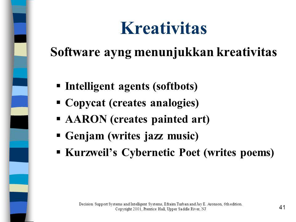 Software ayng menunjukkan kreativitas