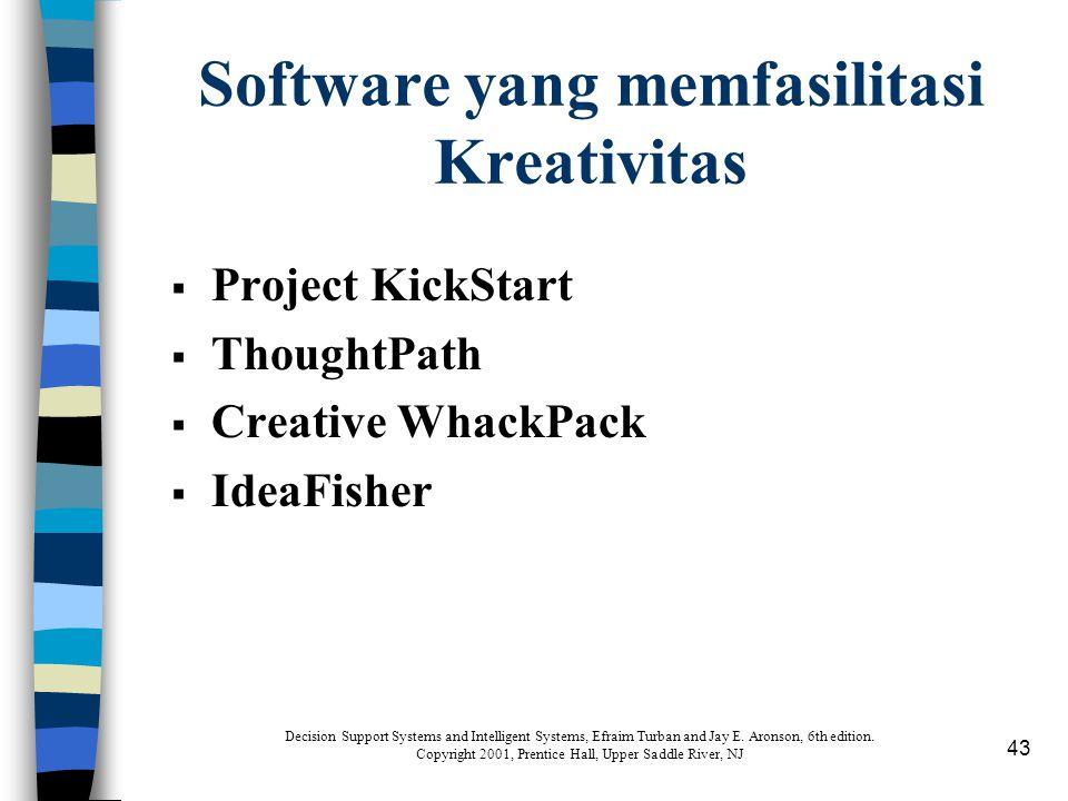 Software yang memfasilitasi Kreativitas