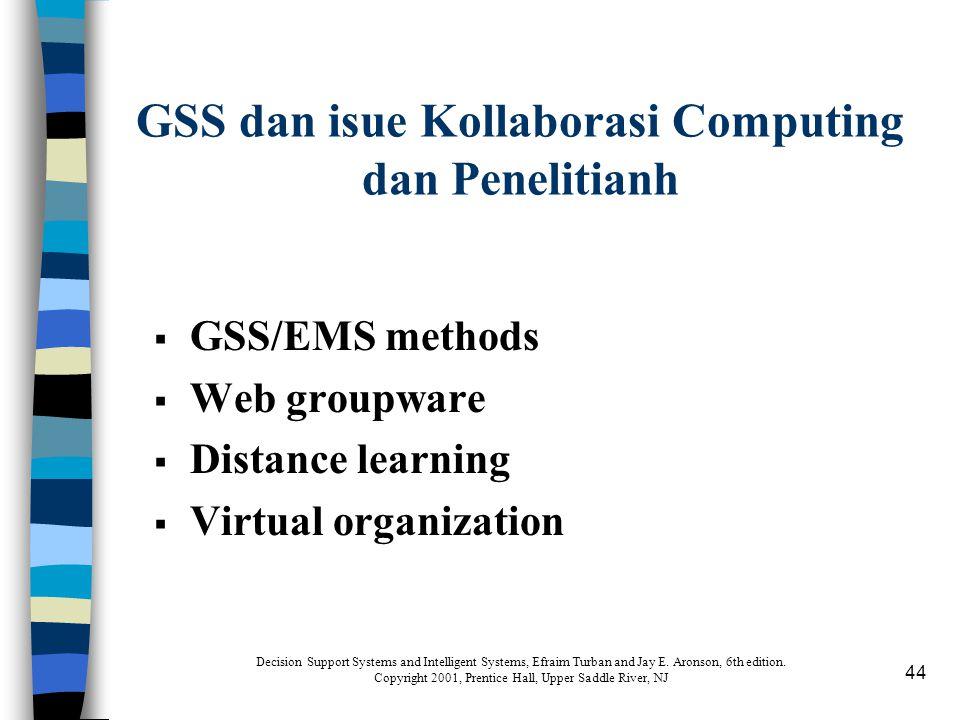 GSS dan isue Kollaborasi Computing dan Penelitianh