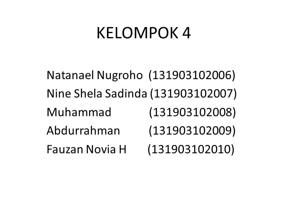 KELOMPOK 4 Natanael Nugroho (131903102006)