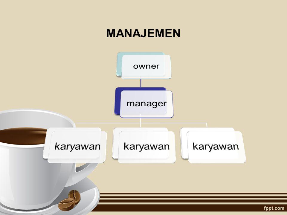 MANAJEMEN owner manager karyawan
