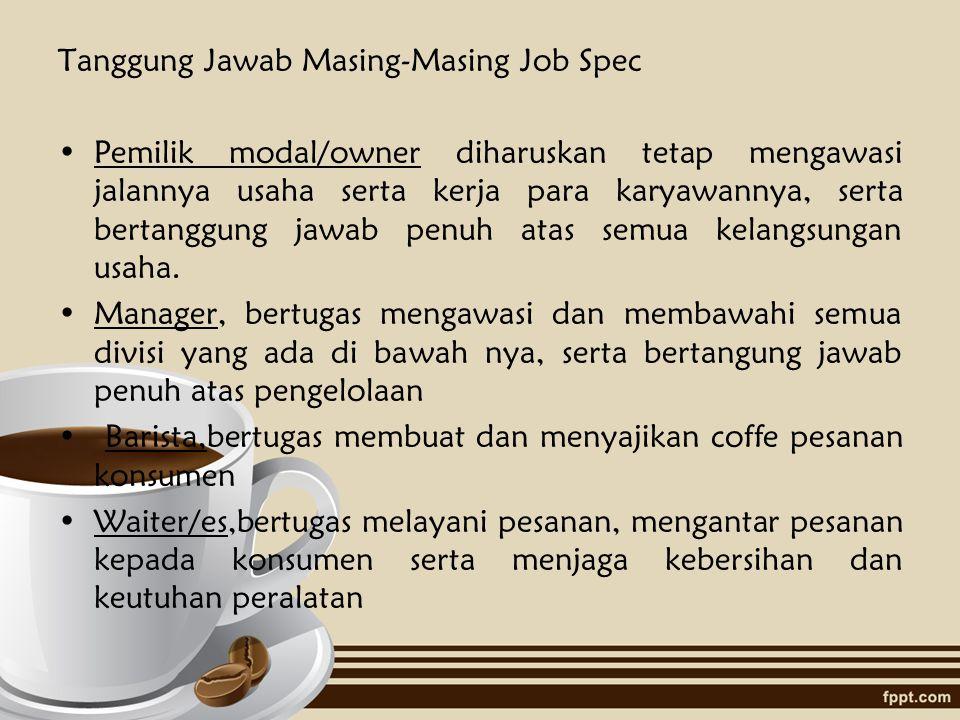 Tanggung Jawab Masing-Masing Job Spec