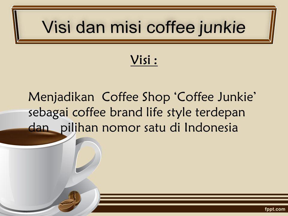 Visi dan misi coffee junkie