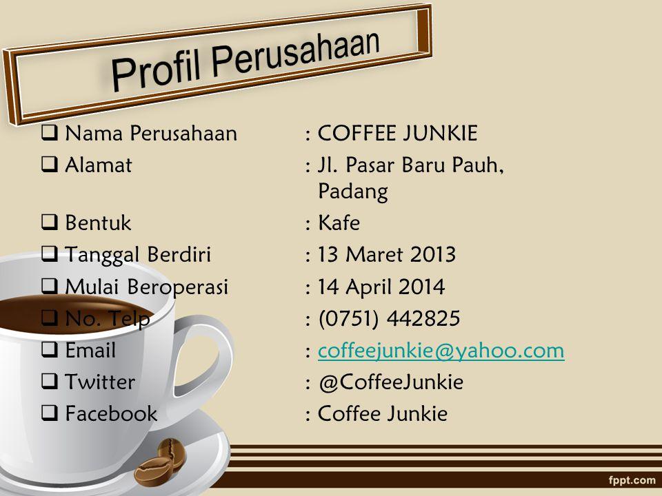 Profil Perusahaan Nama Perusahaan : COFFEE JUNKIE