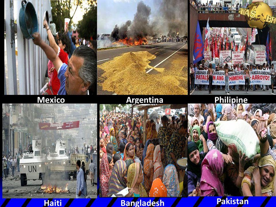 Mexico Argentina Haiti Philipine Bangladesh Pakistan