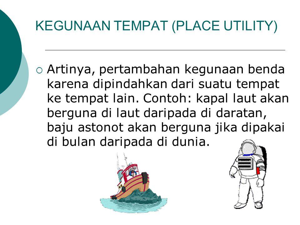 KEGUNAAN TEMPAT (PLACE UTILITY)