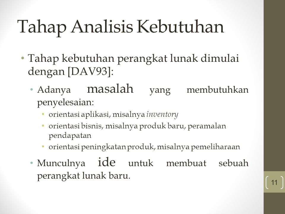 Tahap Analisis Kebutuhan