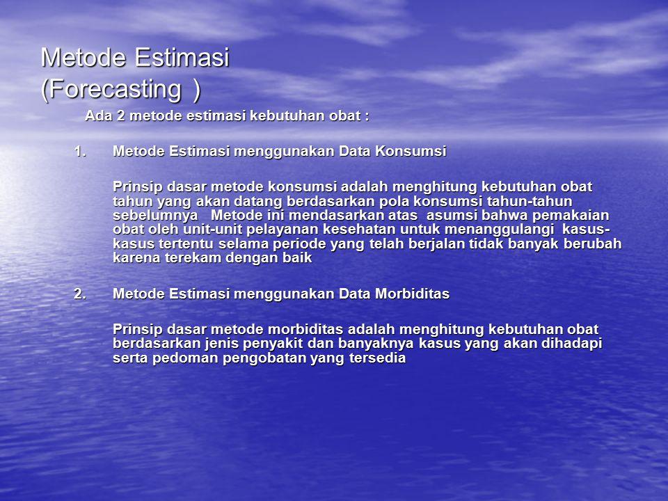 Metode Estimasi (Forecasting )
