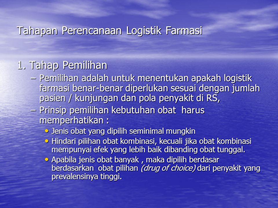 Tahapan Perencanaan Logistik Farmasi