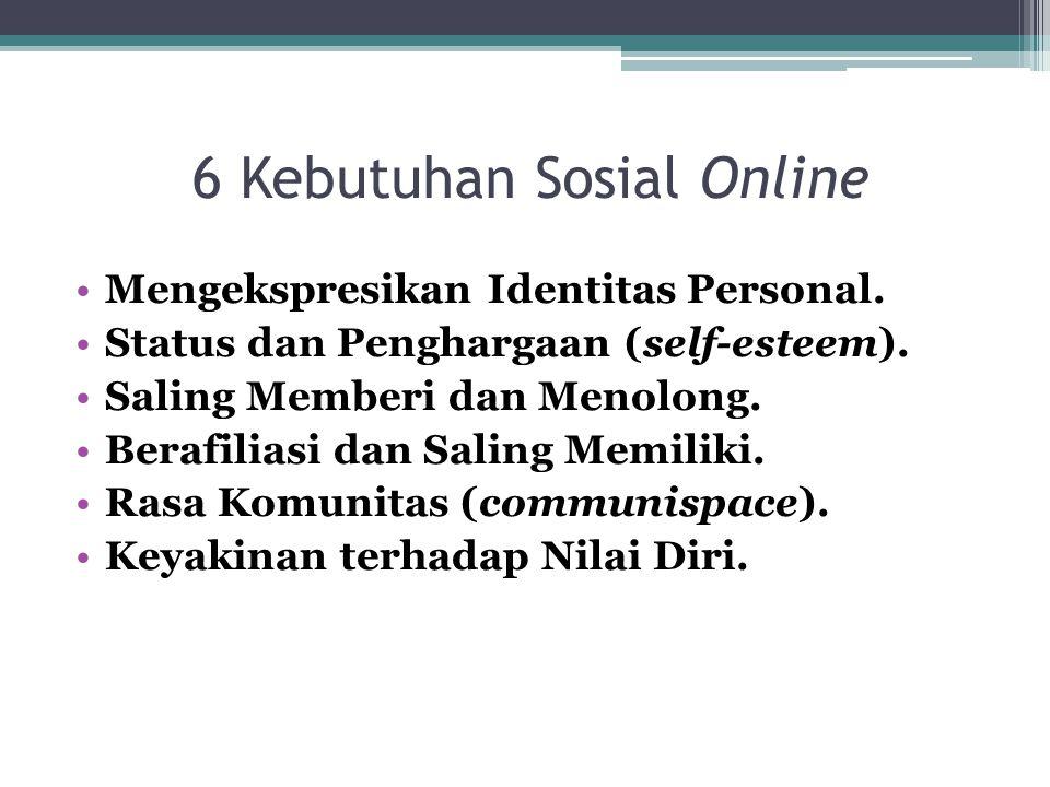 6 Kebutuhan Sosial Online