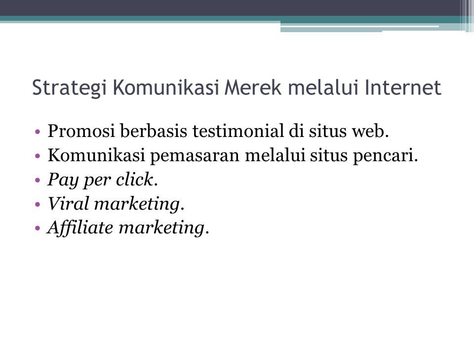 Strategi Komunikasi Merek melalui Internet