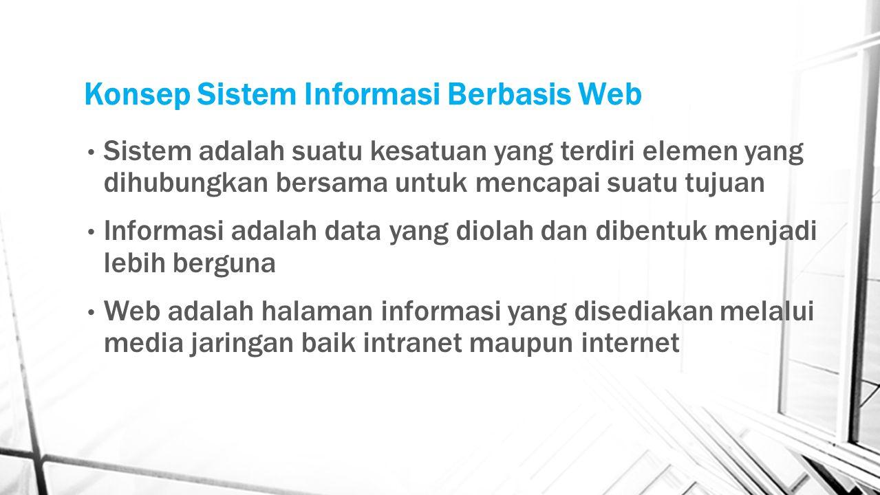Konsep Sistem Informasi Berbasis Web