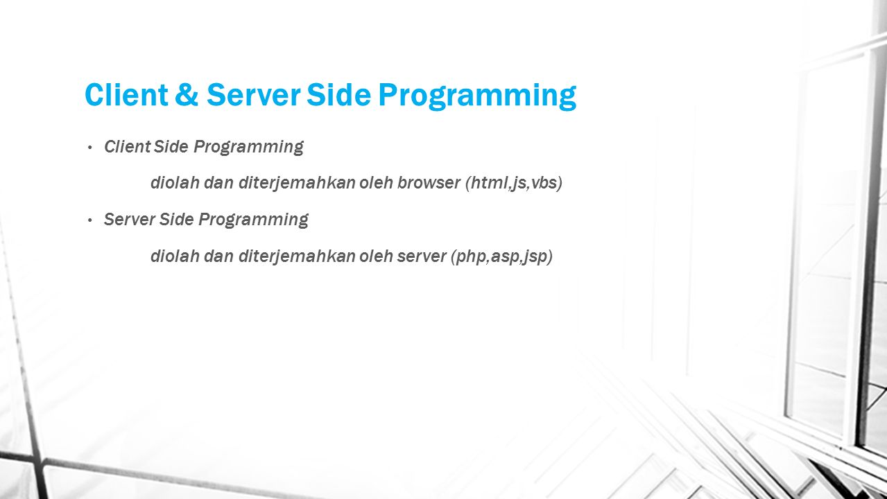 Client & Server Side Programming