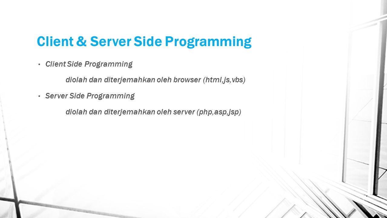 Client & Server Side Programming
