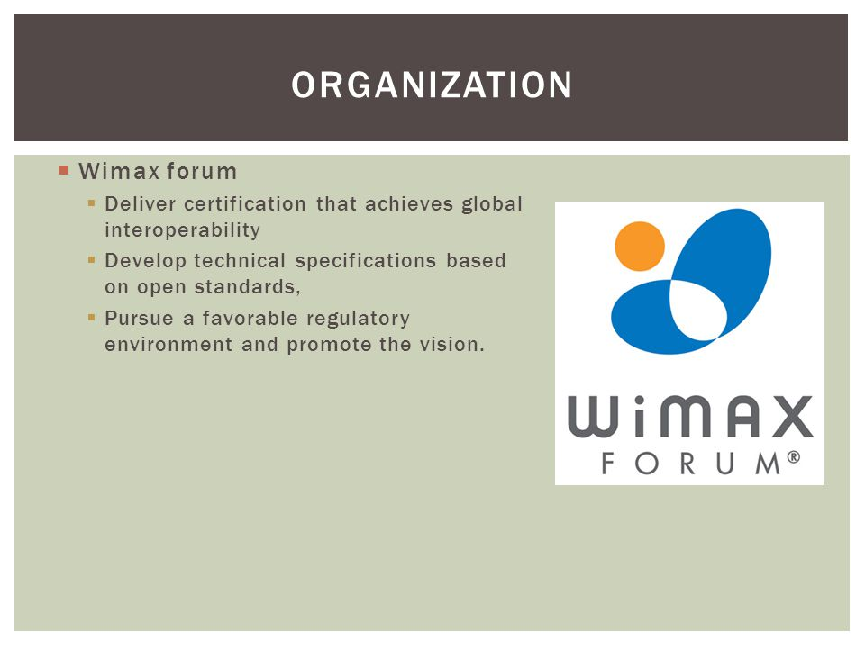 Organization Wimax forum