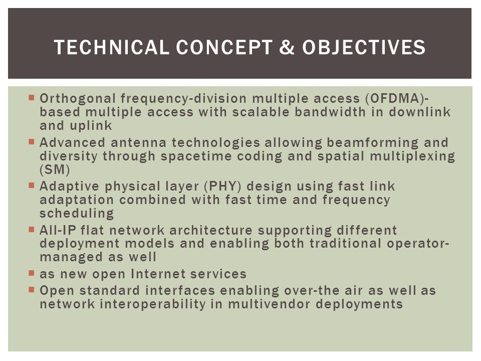 Technical Concept & Objectives