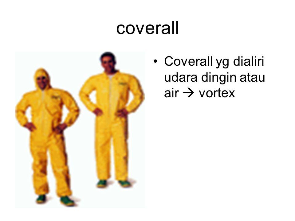 coverall Coverall yg dialiri udara dingin atau air  vortex