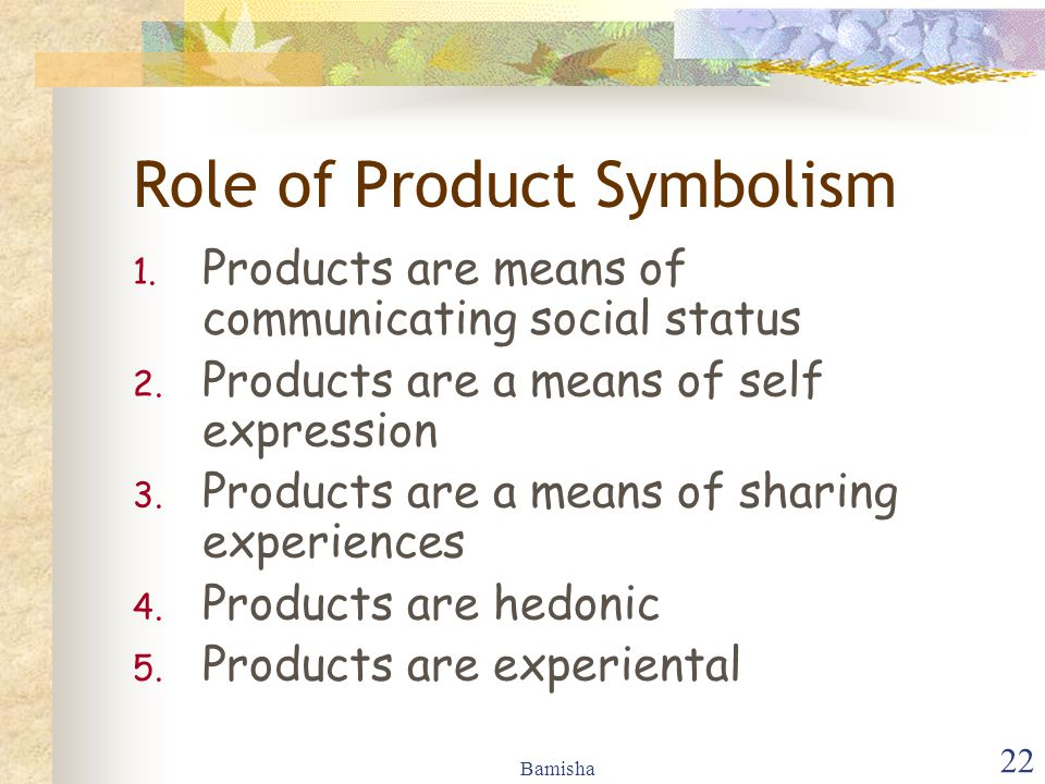 Role of Product Symbolism