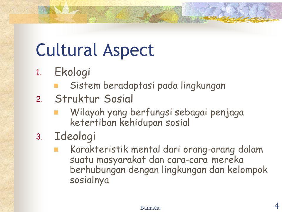 Cultural Aspect Ekologi Struktur Sosial Ideologi