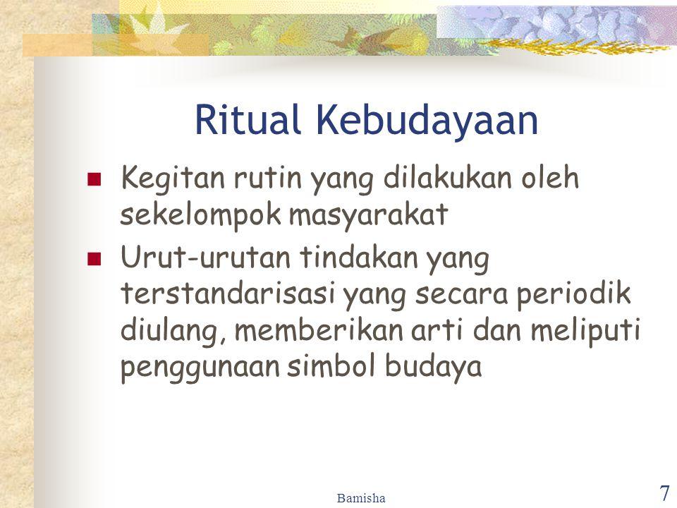Ritual Kebudayaan Kegitan rutin yang dilakukan oleh sekelompok masyarakat.