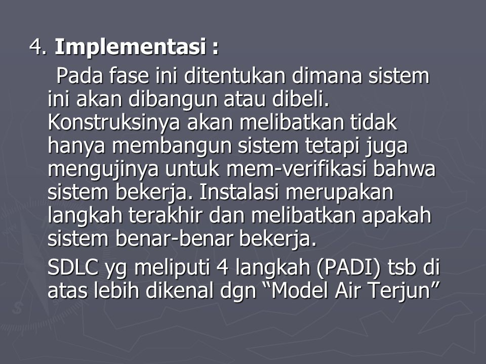 4. Implementasi :
