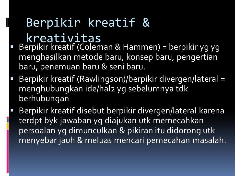 Berpikir kreatif & kreativitas