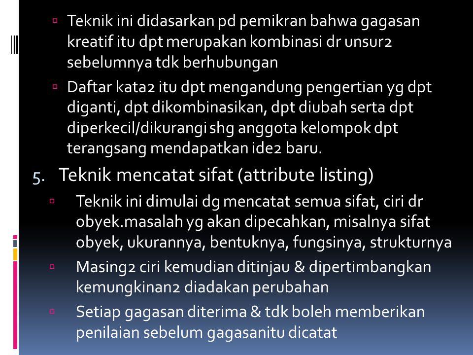 Teknik mencatat sifat (attribute listing)