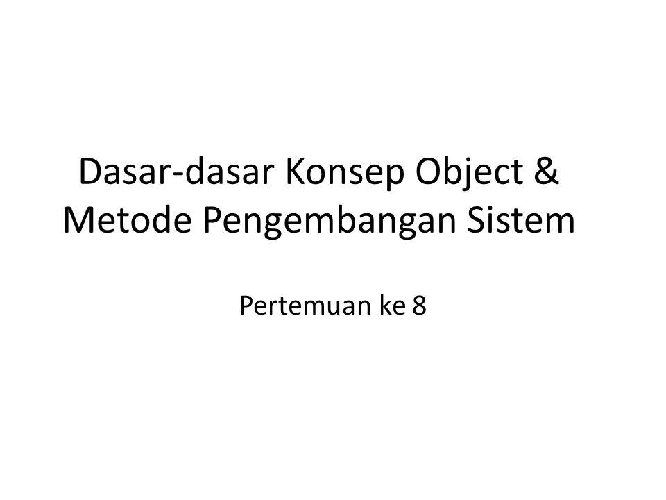Dasar-dasar Konsep Object & Metode Pengembangan Sistem