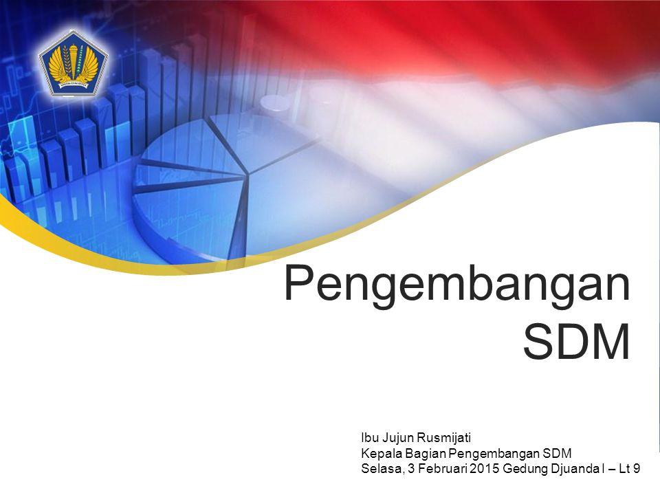 Pengembangan SDM Ibu Jujun Rusmijati Kepala Bagian Pengembangan SDM