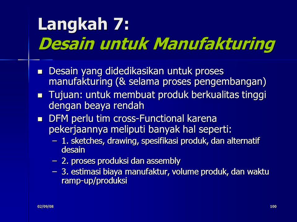 Langkah 7: Desain untuk Manufakturing