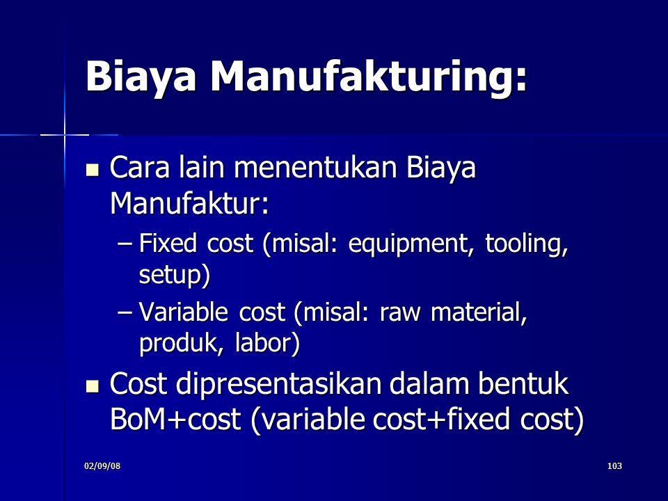 Biaya Manufakturing: Cara lain menentukan Biaya Manufaktur: