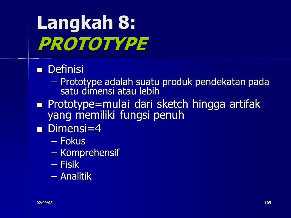 Langkah 8: PROTOTYPE Definisi