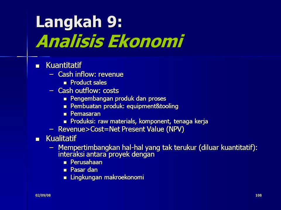 Langkah 9: Analisis Ekonomi