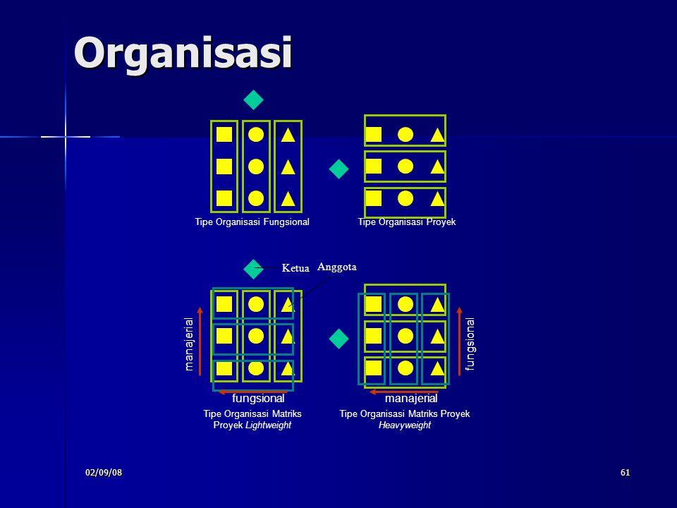 Organisasi Ketua Anggota manajerial fungsional