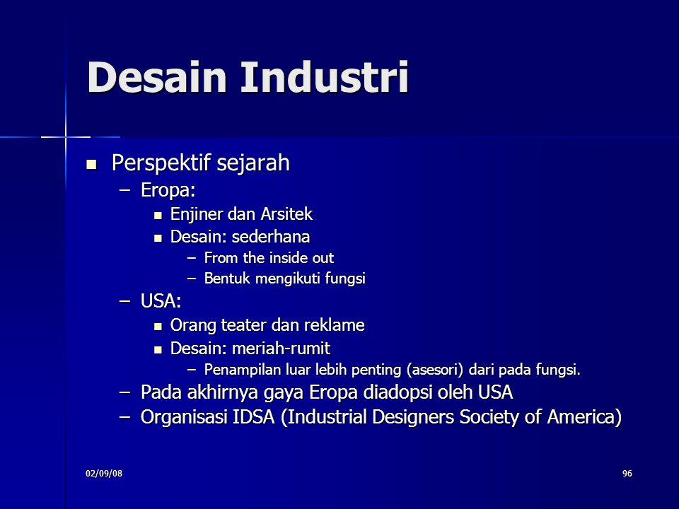 Desain Industri Perspektif sejarah Eropa: USA: