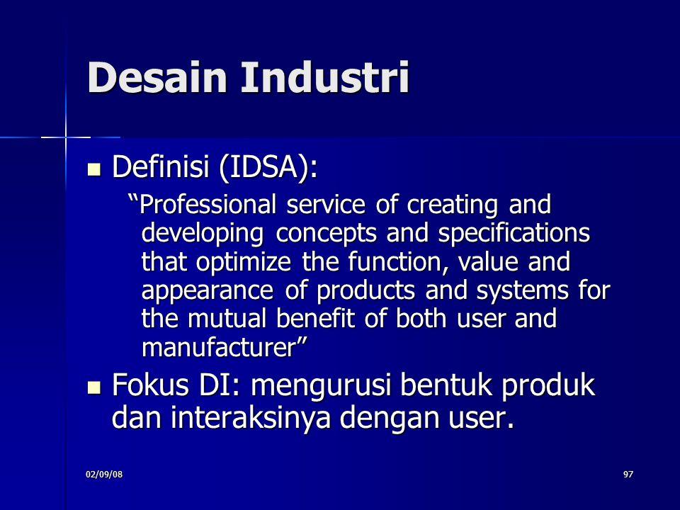 Desain Industri Definisi (IDSA):