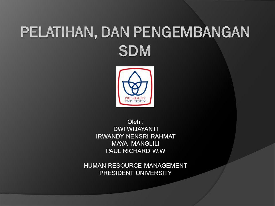 pelatihan, dan pengembangan SDM