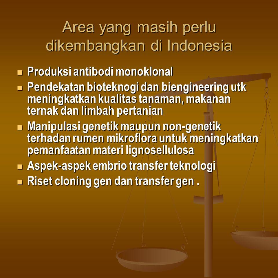 Area yang masih perlu dikembangkan di Indonesia