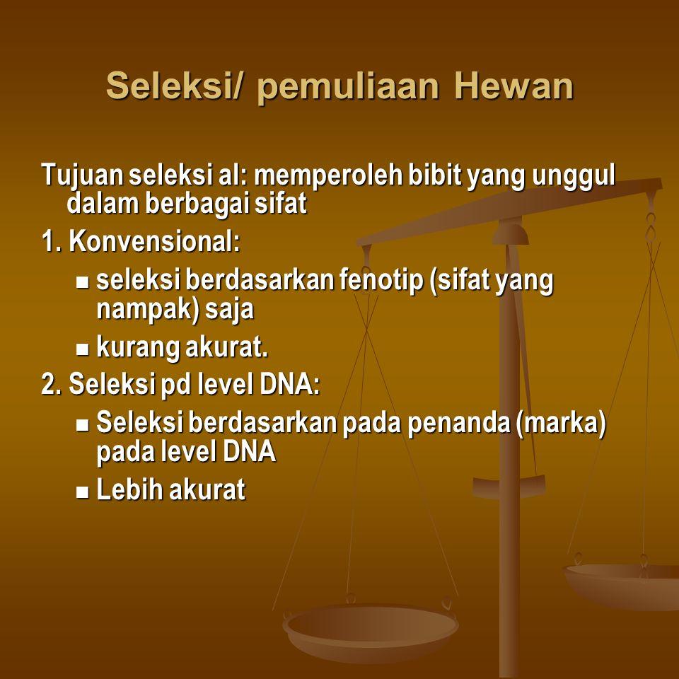 Seleksi/ pemuliaan Hewan