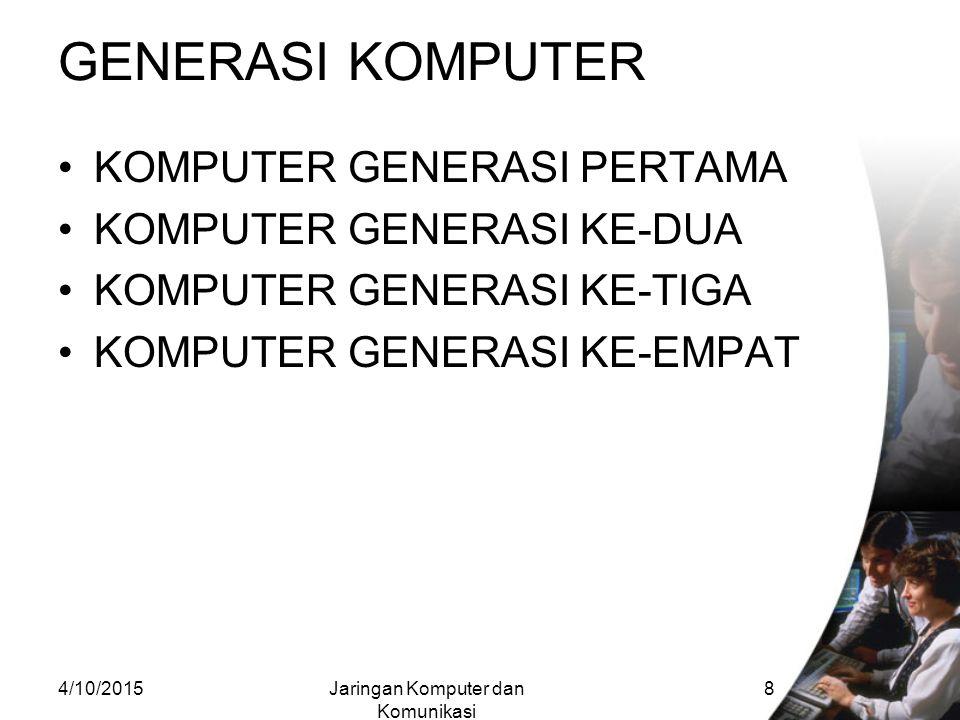 Jaringan Komputer dan Komunikasi