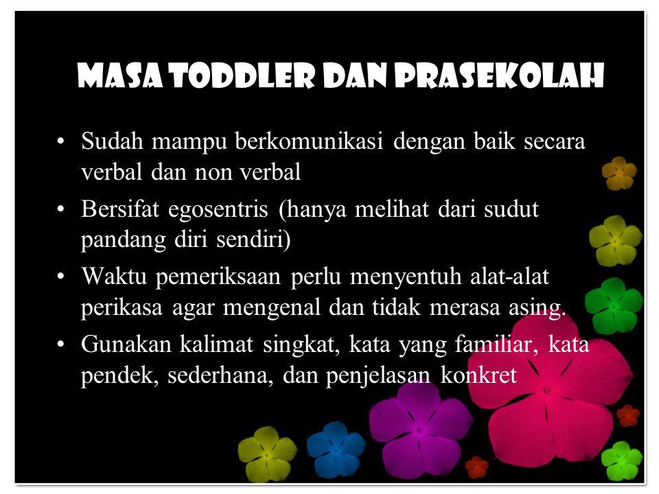 Masa Toddler dan Prasekolah