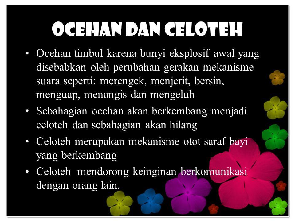 Ocehan dan Celoteh